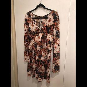 Forever 21 plus Floral Romper NWT